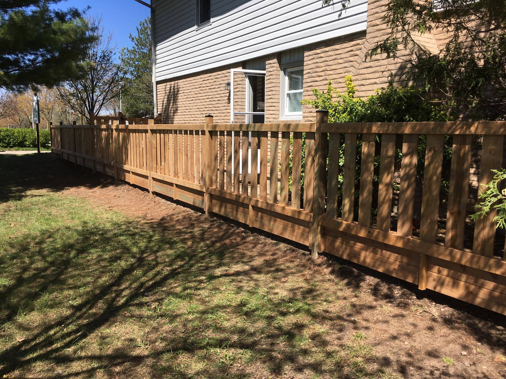 Custom 6x6 wood fence