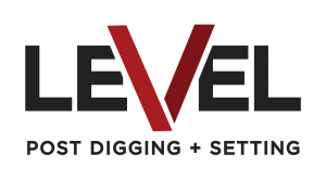 level post digging & setting logo