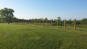 Fence posts dug and set