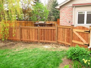 Custom 6x6 wooden fence
